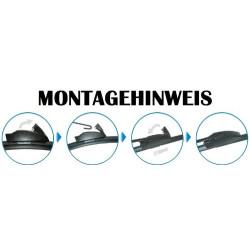 Scheibenwischer Set Satz Flachbalken für Peugeot 307 + SW + CC - 2001-05/2005