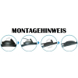 Scheibenwischer Set Satz Flachbalken für Opel Commodore C / Rekord E - 1977-1986