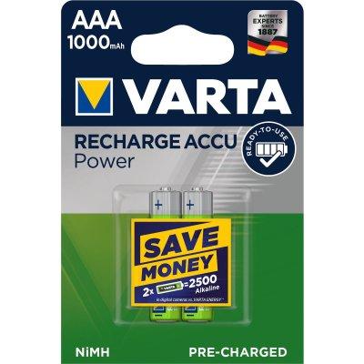 VARTA Rechargeable Akku AAA Micro 2er 1000mAh...