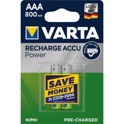 VARTA RECHARGE ACCU Power AAA 800mAh Blister 2