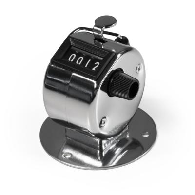 Mechanischer Handzähler McPower, mit Montagefuß, Metallgehäuse, 0-9999