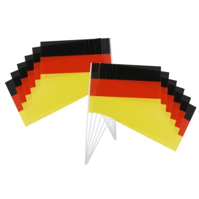 Deutschlandfahnen, 14x21cm, 12er-Pack