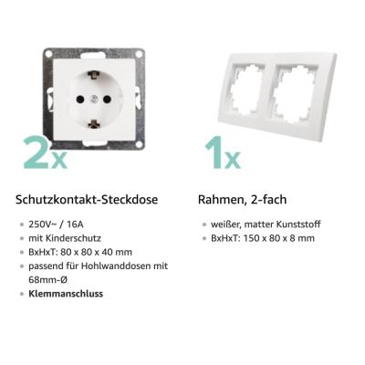 McPower Schalter und Steckdosen Set Flair - Beginner 2S...