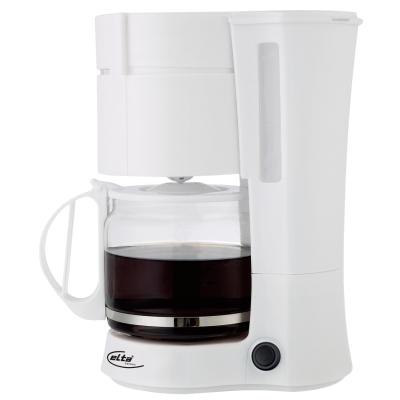 Kaffeemaschine Elta , 1000 Watt, 12 Tassen, weiß