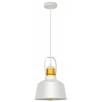 Hängeleuchte mit Schirm, Aluminium, E27, weiß