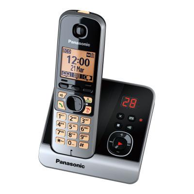 Panasonic KX-TG6721GB schwarz mit AB