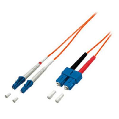 equip FO Duplex Jumper LC/SC 62,5/125µ 1,0m orange,...