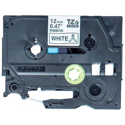 Textilband TZe-R231 weiß / schwarz 12mm x 4m