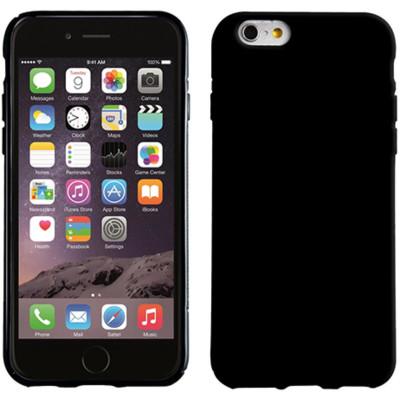 PEDEA Soft TPU Case (glatt) f. iPhone 6/ 6S, Schwarz !BULK!