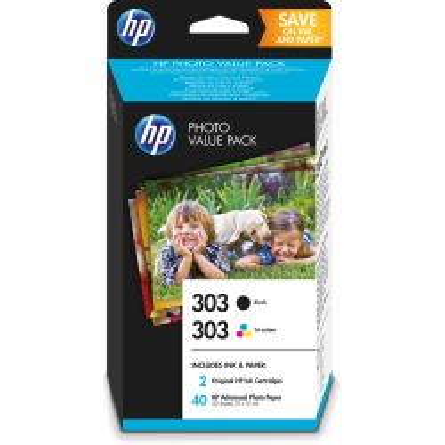 HP Tintenpatrone Nr. 303 Multipack schwarz/3-farbig/40 Blatt