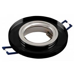 Einbaurahmen McShine Kristallglas rund, schwarz, Ø90mm