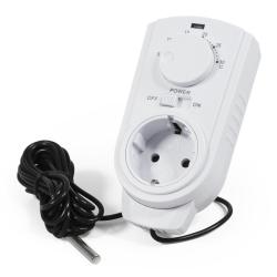 Steckdosen-Thermostat McPower TCU-440 5-30°C, 3500W, 230V, Kabel + Außenfühler