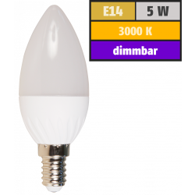 LED Kerzenlampe McShine, E14, 5W, 350lm, 160°, 3000K,...