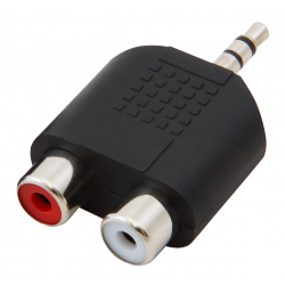 Audio-Adapter HOLLYWOOD , 2x Cinchbuchse -> 3,5 mm...