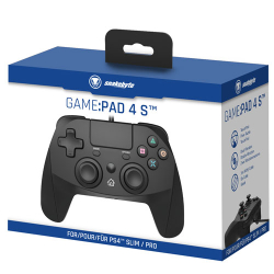 PS4 Controller Game:Pad 4S black Kabel Snakebyte