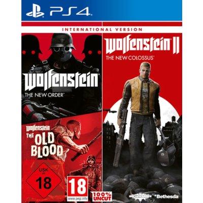 Wolfenstein Triple Pack PS4 Playstation 4 INTERNATIONAL...