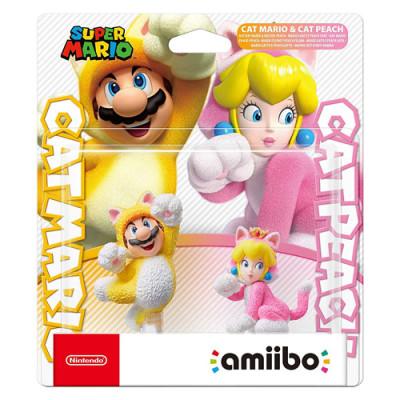 Amiibo Doppelpack Katzen-Mario + -Peach
