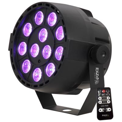 LED-Lichteffekt IBIZA PAR-MINI-RGB3 12x 3W RGB LED,...