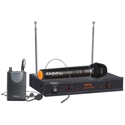 VHF-Funkmikrofon-Set IBIZA VHF2H 2-Kanäle, bis zu...