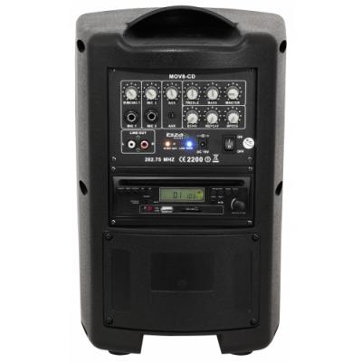 Mobile Beschallungsanlage IBIZA MOV8-CD CD-Player, 150W,...