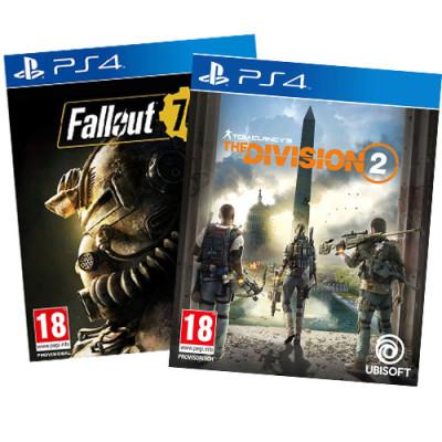 2 Games 5 Euro  Spiel für PS4 V1 AT Division 2 + F76