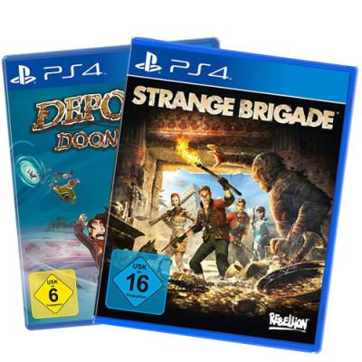 2 Games 5 Euro  Spiel für PS4 V2 Deponia + Strange...