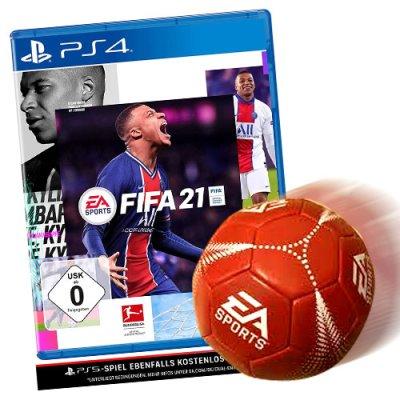 Fifa 21 Spiel für PS4 + Fussball EA Sports