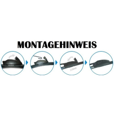 Scheibenwischer Set Satz Flachbalken für Volvo 760 - 1987-1990