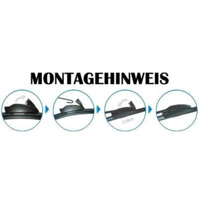 Scheibenwischer Set Satz Flachbalken für Nissan Micra / Micra CC / Pixo 2009-2017