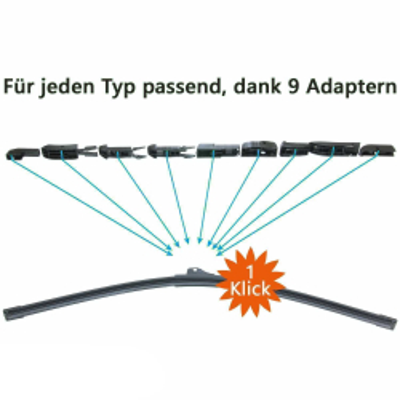 Scheibenwischer Set Satz Premium für Mercedes-Benz Citan W415 - ab 2012
