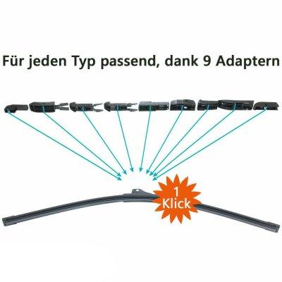 Scheibenwischer Set Satz Premium für Audi A3 / S3 / Cabrio 8P / 8PA - 2003-2013
